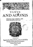 Venus and Adonis ebook by William Shakespeare,William Shakespeare,William Shakespeare
