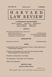 Harvard Law Review: Volume 126, Number 4 - February 2013 ebook by Harvard Law Review