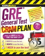 CliffsNotes GRE General Test Cram Plan 2nd Edition ebook by Catherine McMenamin,Carolyn Wheater,Jane R. Burstein