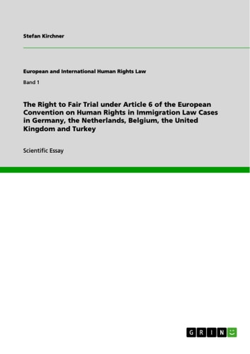 The Right to Fair Trial under Article 6 of the European Convention on Human Rights in Immigration Law Cases in Germany, the Netherlands, Belgium, the United Kingdom and Turkey ebook by Stefan Kirchner