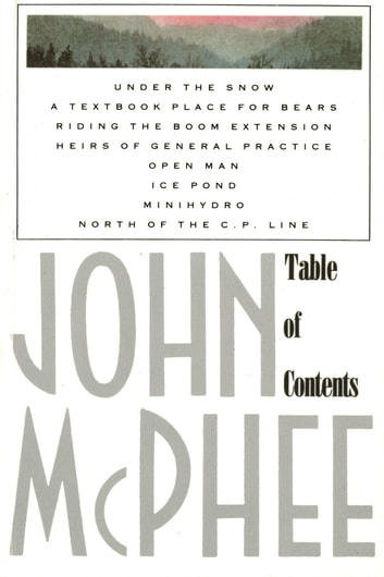 Table of Contents ebook by John McPhee