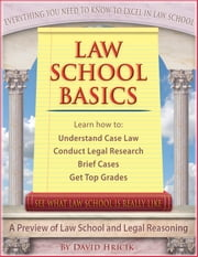 Law School Basics - A Preview of Law School and Legal Reasoning ebook by David Hricik