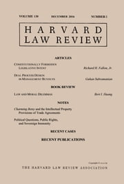 Harvard Law Review: Volume 130, Number 2 - December 2016 ebook by Harvard Law Review