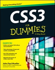 CSS3 For Dummies ebook by John Paul Mueller