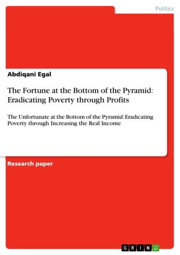 The Fortune at the Bottom of the Pyramid: Eradicating Poverty through Profits - The Unfortunate at the Bottom of the Pyramid: Eradicating Poverty through Increasing the Real Income ebook by Abdiqani Egal