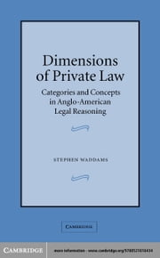 Dimensions of Private Law ebook by Waddams, Stephen