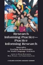 Research Informing Practice - Practice Informing Research ebook by David Schwarzer,Mary Petrón,Christopher Luke