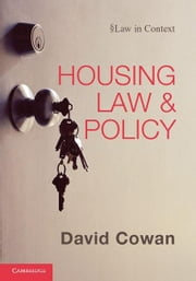 Housing Law and Policy ebook by Cowan, David