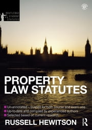 Property Law Statutes 2012-2013 ebook by Russell Hewitson