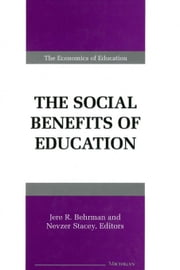 The Social Benefits of Education ebook by Behrman, Jere R.