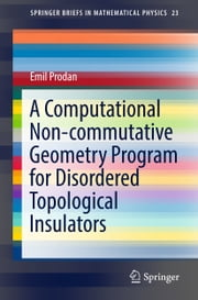 A Computational Non-commutative Geometry Program for Disordered Topological Insulators ebook by Emil Prodan