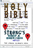 Holy Bible (KJV) with Strong's Markup and Hebrew/Greek Dictionaries (Fast Navigation, Search with NCX and Chapter Index)
