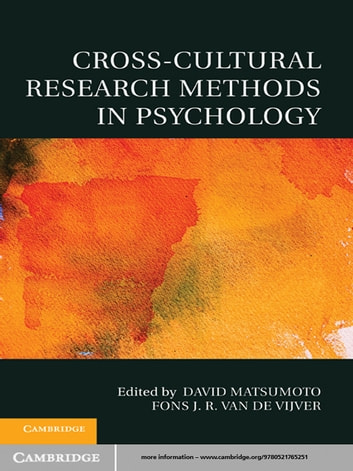 a study of cross cultural psychology Cross-cultural psychology refers to the collective efforts of researchers who work among people who live in different societies, with different languages and different forms of.