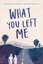 What You Left Me ebook by Bridget Morrissey