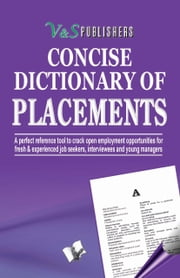 CONCISE DICTIONARY OF PLACEMENTS ebook by EDITORIAL BOARD