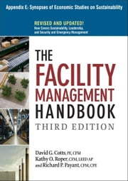 The Facility Management Handbook, Appendix E ebook by David G. COTTS