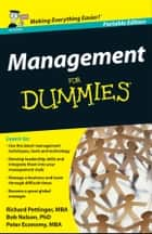 Management For Dummies, UK Edition ebook by Richard Pettinger,Bob Nelson,Peter Economy