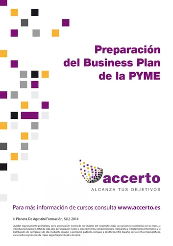 Preparación del Business Plan de la PYME eBook by Accerto