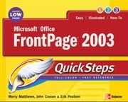 Microsoft Office FrontPage 2003 QuickSteps ebook by Matthews, Martin