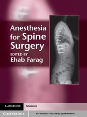 Anesthesia for Spine Surgery ebook by Ehab Farag