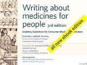 Writing about medicines for people ebook by Sless, David