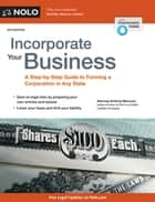 Incorporate Your Business ebook by Anthony Mancuso, Attorney