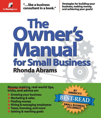 The Owners Manual For Small Business Ebook By Rhonda Abrams