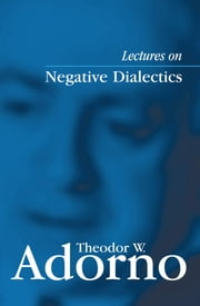 Lectures on Negative Dialectics - Fragments of a Lecture Course 1965/1966 ebook by Theodor W. Adorno