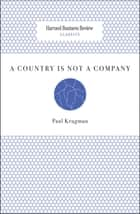 A Country Is Not a Company eBook by Paul Krugman