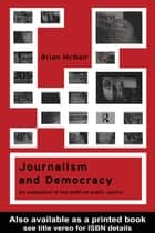 Journalism and Democracy ebook by Brian McNair