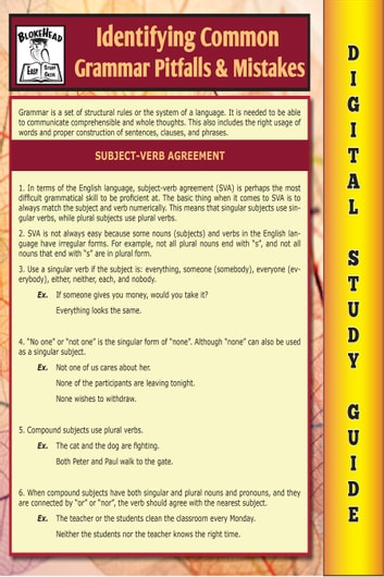 d618ea01c8c Common Grammar Pitfalls   Mistakes ( Blokehead Easy Study Guide) ebook by  The Blokehead