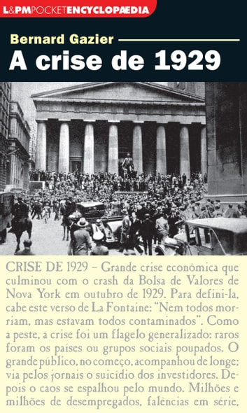 A crise de 1929 ebook by Bernard Gazier