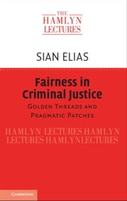 Fairness in Criminal Justice - Golden Threads and Pragmatic Patches ebook by Sian Elias