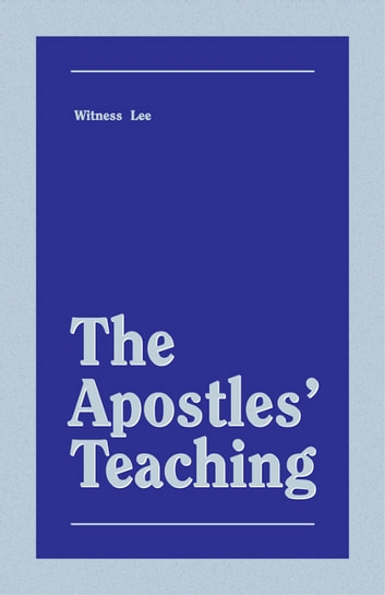The Apostles' Teaching 電子書 by Witness Lee