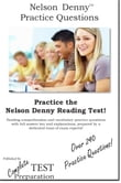 Practice the Nelson Denny: Practice Test Questions for the Nelson Denny Reading Test