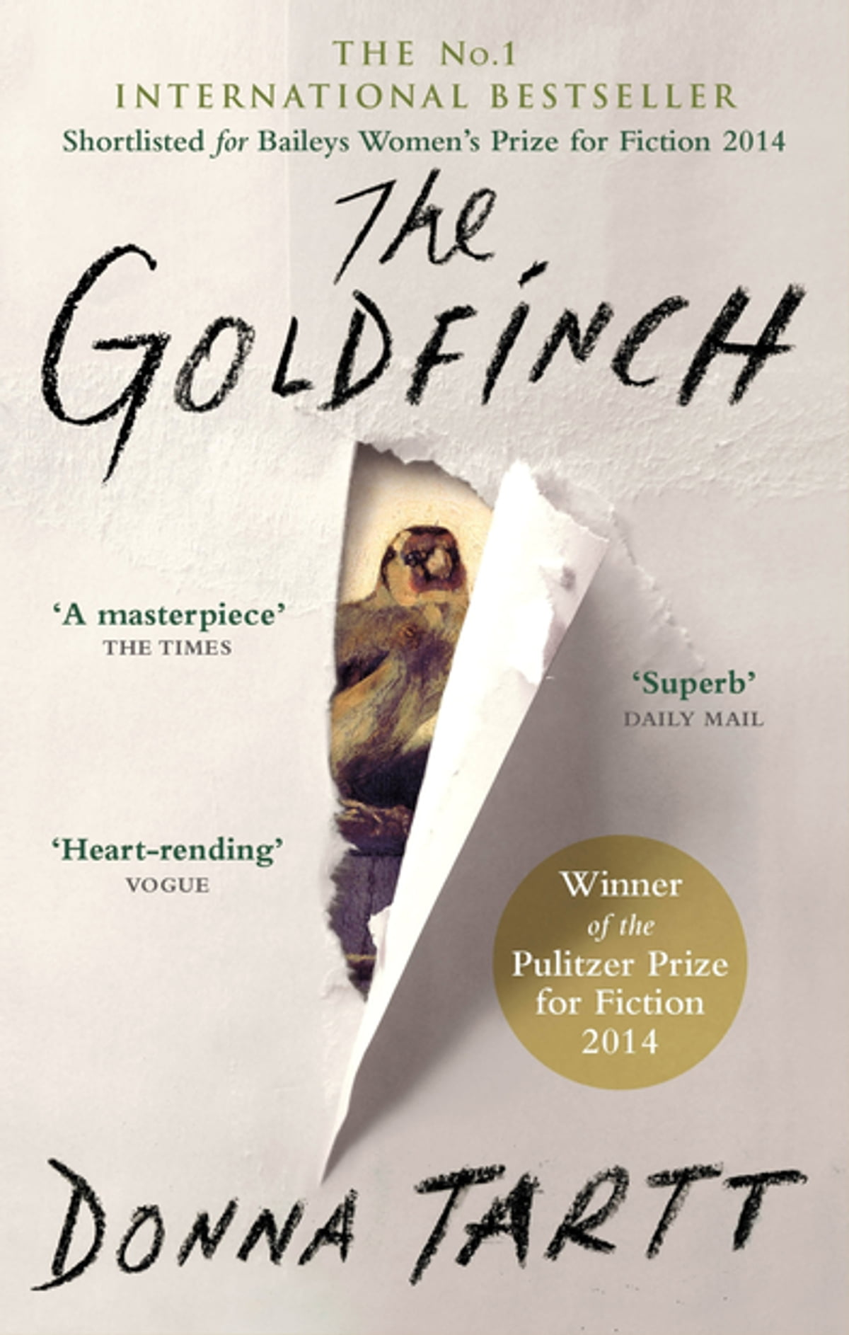 the book cover for the goldfinch by donna tartt
