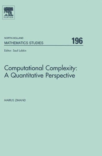 Computational Complexity: A Quantitative Perspective ebook by Marius Zimand