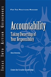 Accountability: Taking Ownership of Your Responsibility ebook by Browning, Henry