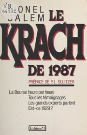 Le krach de 1987 ebook by Lionel Salem