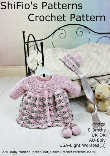 278- Baby Matinee Jacket, Hat, Shoes Crochet Patterns #278 ebook by ShiFio's Patterns