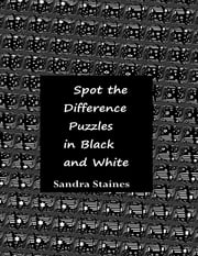 Spot the Difference Puzzles In Black and White ebook by Sandra Staines