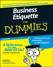 Business Etiquette For Dummies ebook by Sue Fox