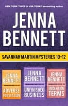 Savannah Martin Mysteries 10-12 ebook by Jenna Bennett