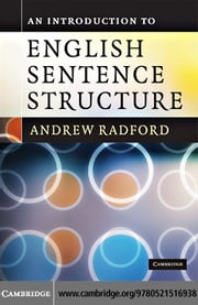 An Introduction to English Sentence Structure ebook by Radford,Andrew