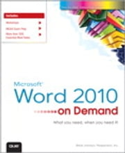 Microsoft Word 2010 On Demand ebook by Steve Johnson,Perspection Inc.