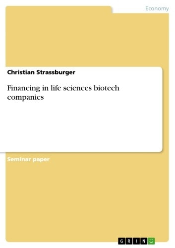 Financing in life sciences biotech companies ebook by Christian Strassburger