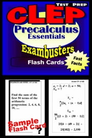CLEP Precalculus Test Prep Review--Exambusters Flash Cards - CLEP Exam Study Guide ebook by CLEP Exambusters