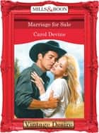 Marriage For Sale (Mills & Boon Desire) (The Bridal Bid, Book 2) ebook by Carol Devine