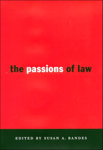 The Passions of Law ebook by