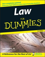Law For Dummies ebook by John Ventura